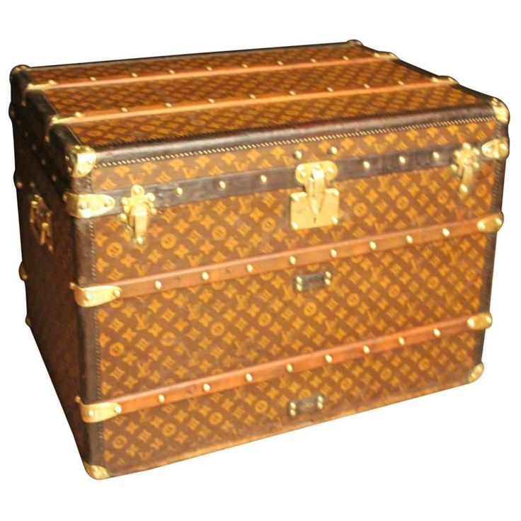 1920s Louis Vuitton Monogramm Canvas Steamer Trunk | From a unique collection of…