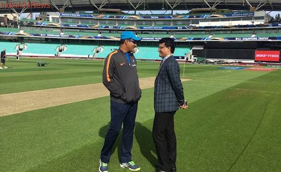 ICC Champions Trophy: Sourav Ganguly, Anil Kumble chat before match against New Zealand