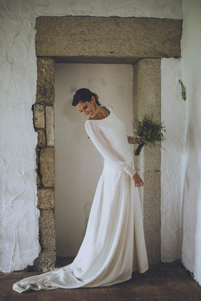 #Novia con vestido de Isabel Nuñez