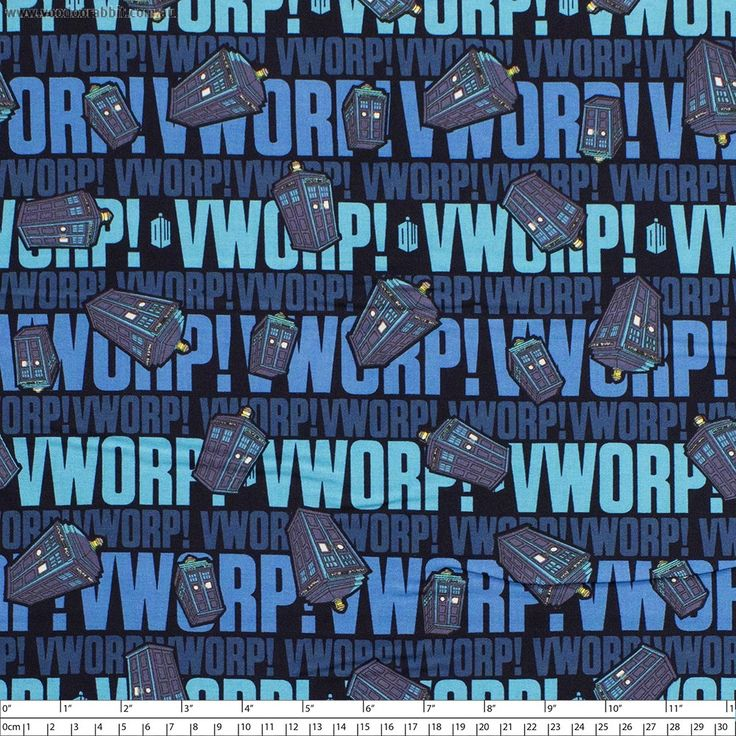"""Doctor+Who+TARDIS+Worp+Worp+Blue+by+Springs+Creative+-+Pricing+is+per+meter  How+exactly+do+you+put+into+words+the+distinctive+sound+that+the+TARDIS+makes+when+is+de-+or+re-materialises?+Apparently+it+is+a+kind+of+worp,+worp+sound.+ Main+Colour/s:+Blue Basecloth:+100%+Cotton Bolt+Width:+110cm+(43"""") Weight:+Light+-+Quilting+and+Apparel+Weight Vertical+Repeat:+31.5cm+(12-1/2"""") Repeat+Type:++Basic While+we+make+every+effort+to+represent+colour+accurately,+every+monitor+is+different+and..."""