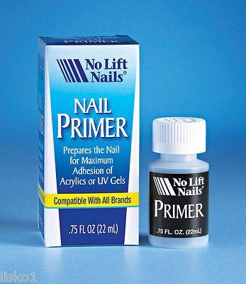 No Lift Nails Nail Primer for Acrylics or UV Gels, Preps Nails .75 oz.