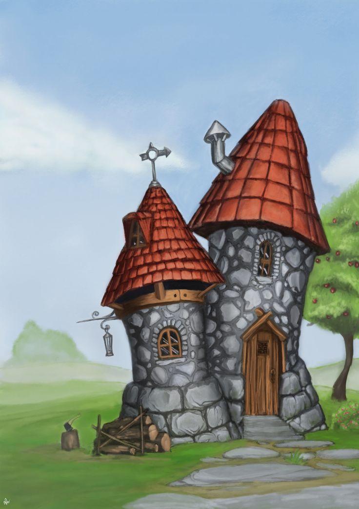 как нарисовать сказочный домик урок Photoshop - Поиск в Google
