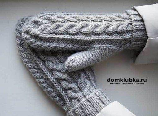 Узорчатые рукавицы