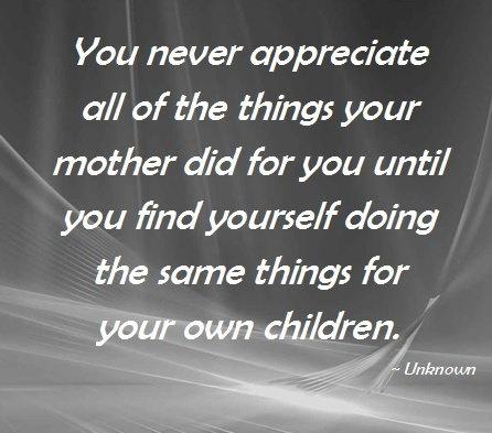 So True.... Always appreciate your parents....