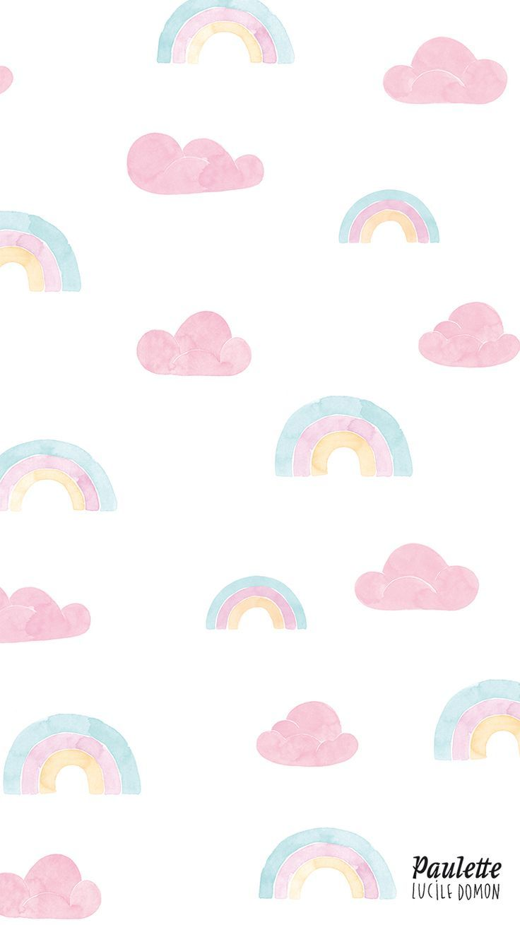 awesome Rainbow and clouds pastel iPhone wallpaper...