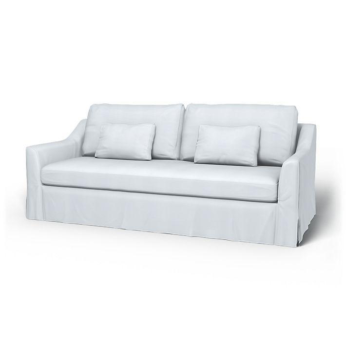 Farlov Sofa Covers 3 Seater Regular Fit Using The Fabric Panama Cotton Egg Shell Blue