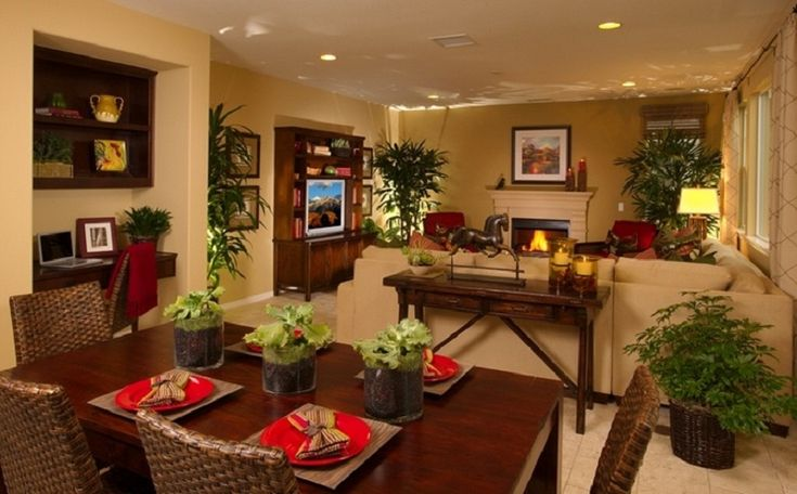 Cool kitchen dining and living room combo for small space for Living dining room decor ideas