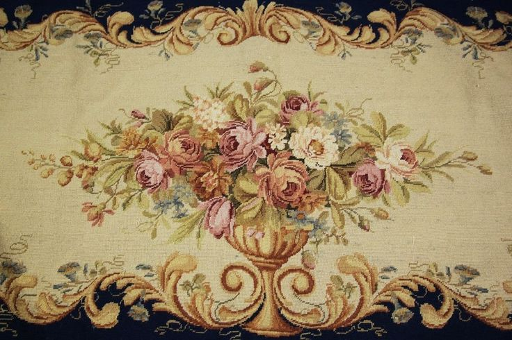 "56"" Beautiful Vintage Chic Charm French Style Handmade Needlepoint Pillow #he9 #Handmade"