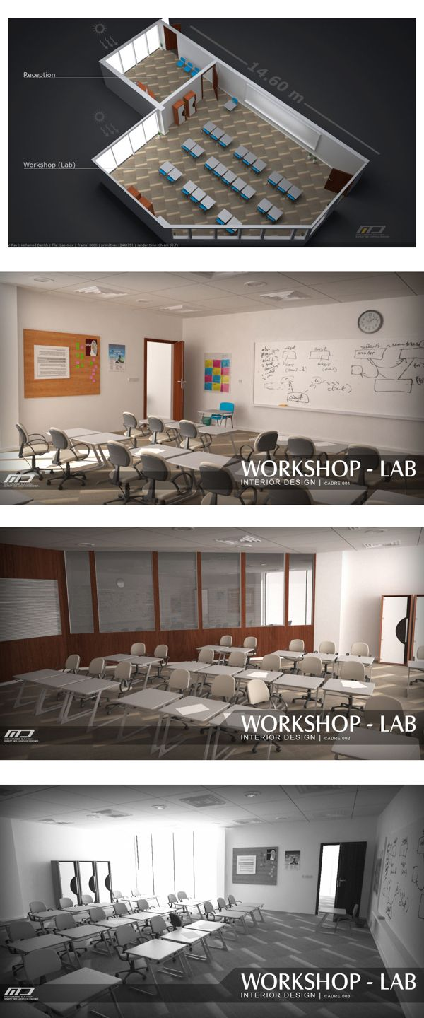 Lab - Interior Design by M. Dahish, via Behance