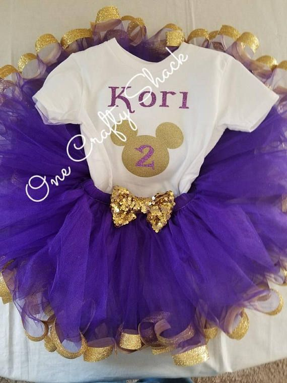 7d6fc05a9c7 Purple and Gold Mickey Mouse tutu outfit, Purple and Gold Minnie ...