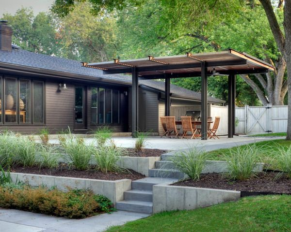 Roof Design Ideas: Customize Mid Century Patio Cover For Outdoor Dining Sets