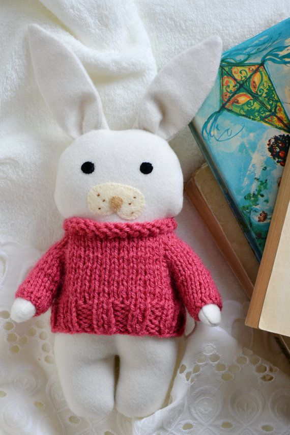 Rose stuffed toy animal soft toy bunny rabbit gift for by Fernlike gifts for baby girl nursery room decor