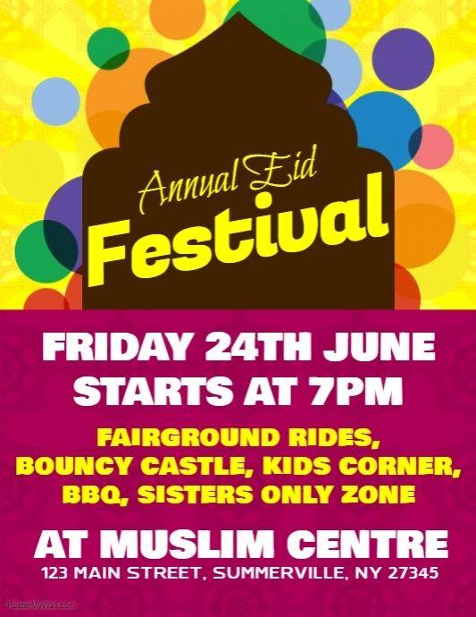 eid mubarak islamic festival holiday background - Download ... |Eid Festival Poster
