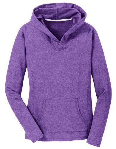 Heathered Purple Hoodie for Women