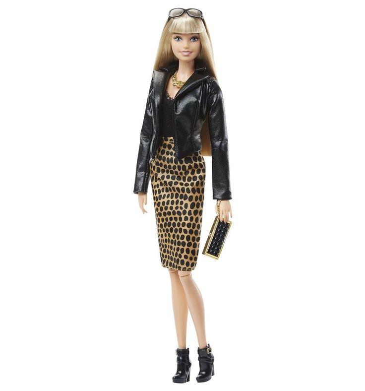 Кукла Barbie ( Кукла Барби ) Городской блеск длинные светлые волосы черная куртка   Barbie.Ru   Барби в России