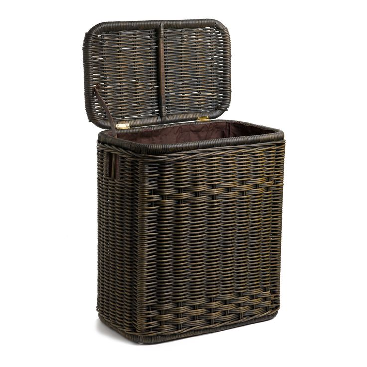 1000 ideas about wicker laundry hamper on pinterest white wicker laundry basket firewood - Narrow clothes hamper ...