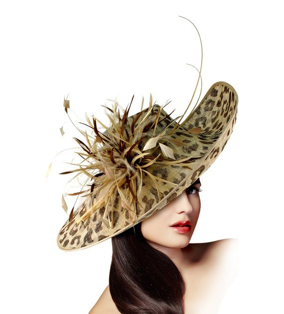 Leopard Print Profile Sculpted Fascinator by ffortissimo on Etsy, $198.00