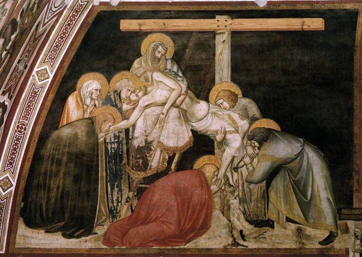 La Deposizione dalla croce è un affresco di Pietro Lorenzetti, facente parte delle Storie della Passione di Cristo nel transetto sinistro della basilica inferiore di San Francesco ad Assisi, databile al 1310-1319 circa. Sicuramente risente dell' influenza di Giotto nella drammaticità, lungo esile corpo di Cristo, sommarsi di forze ascendenti, diagonale delle figure e ortogonalità della croce. Assenza di profondità.