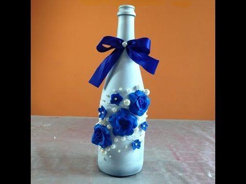 Las 25 mejores ideas sobre botellas de licor decoradas en - Decorar mesa navidad manualidades ...