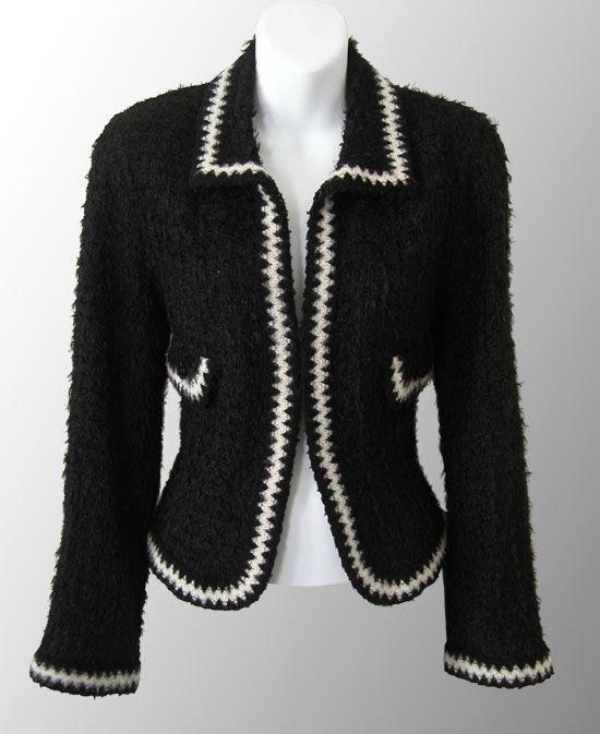 Black jacket w/ white trim