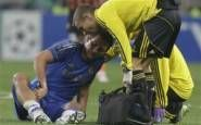 Frank Lampard suffered from a pulled calf muscle in 2012