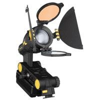 """Dedolight """"LEDZilla"""" Mini LED Daylight/Tungsten Camera Light, with Barn Doors, Filter & Diffuser... this little guy is shockingly versatile, with built in filters and barn-doors, a focusable clean light beam (spot to flood), and a color temperature with very little variance. Ideal for video but great for stills shooters too!"""