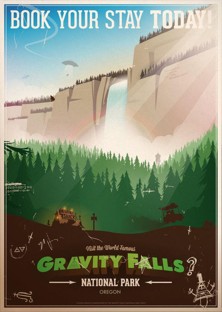 Gravity Falls National Park by ameba2k on deviantART