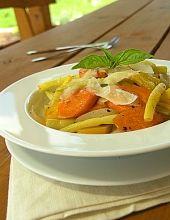 Żółte warzywa z patelni