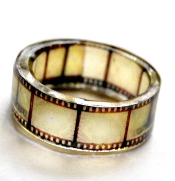 Hand Cast Resin Film Ring By Bethtastic On Etsy Httpwwwetsycom