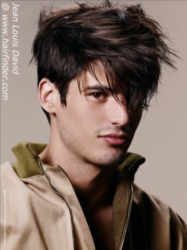 mens hairstyle for a messy look