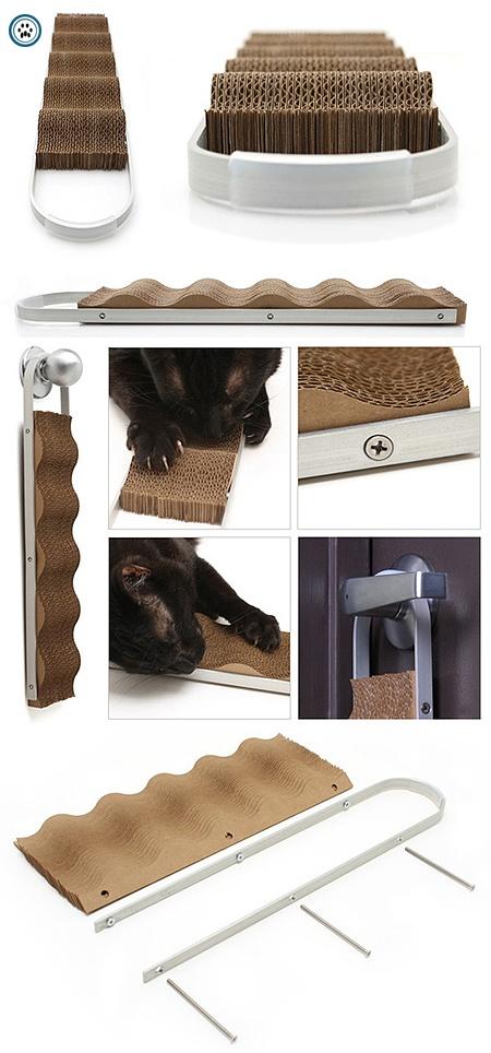 Modern Cat Studio Wave Door-Hanging Cardboard Scratcher