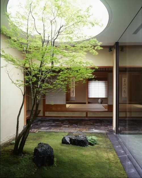 jardin japonais interieur maison. Black Bedroom Furniture Sets. Home Design Ideas