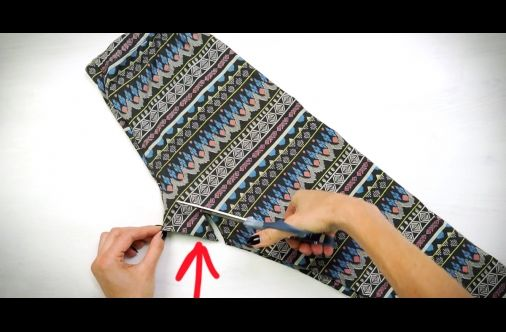WATCH: She Cuts A Pair Of Old Leggings. Then, Transforms It Into An Awesome Piece Of Clothing