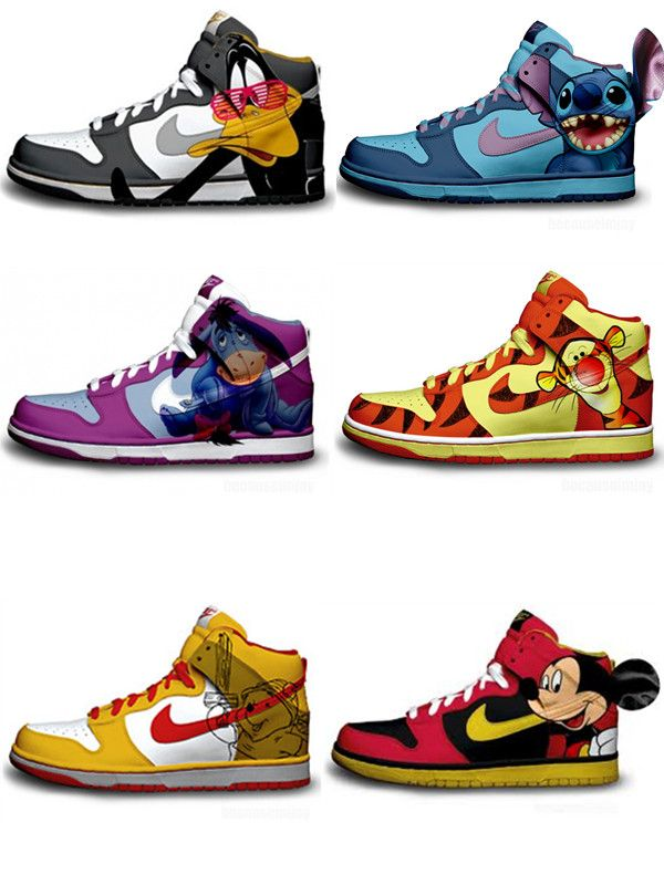 Awesome Disney Character Nike Dunk Premium By Brass Monki