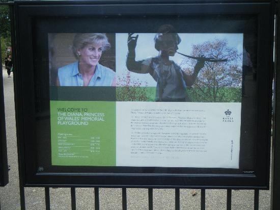 Diana Princess of Wales Memorial Playground and Peter Pan Statue