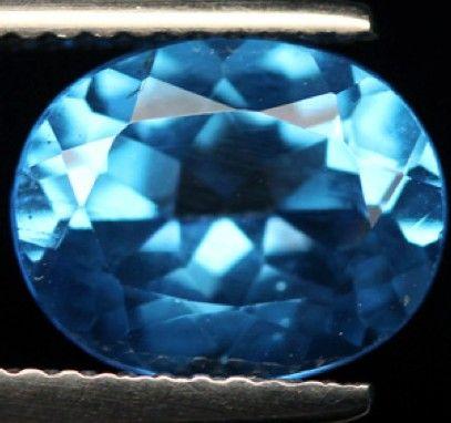 3.14 ct. Natural Swiss blue Topaz loose gemstone