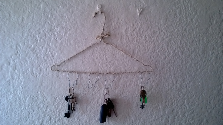 Homemade key hanger