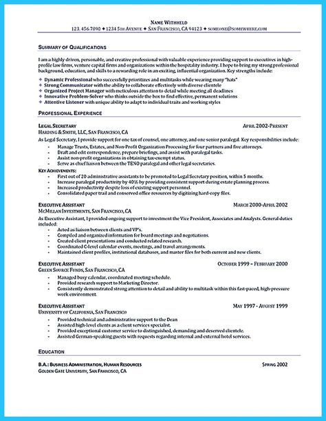 Best 25+ Administrative assistant resume ideas on Pinterest - resume for secretary
