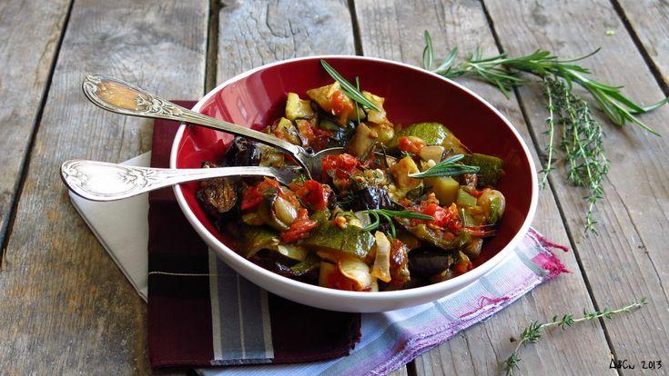 Salade de légumes rôtis