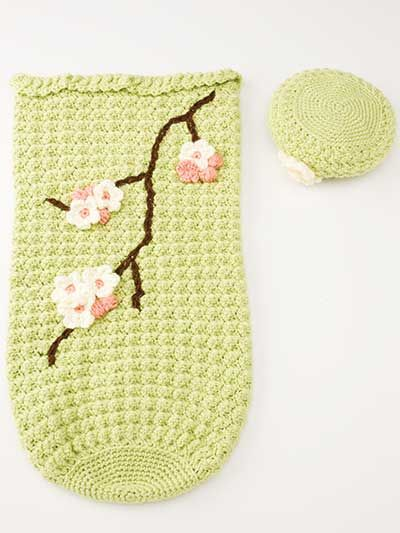 Apple Blossom Baby Cocoon & Hat