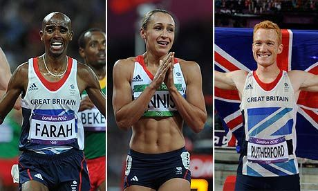 Mo Farah, Jessica Ennis, and Greg Rutherford, just three of #yourathletes that are funded by The National Lottery!
