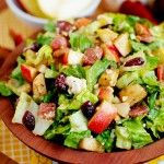 Autumn Chopped Salad. To add to my bacon and apple fixation. GREAT!! Been there. Made that. Ate that.