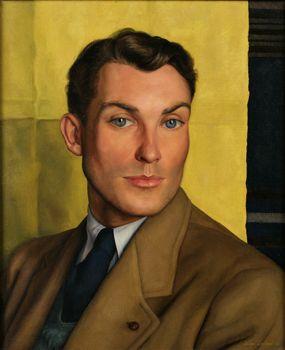 """William Whitehead,"" Luigi Lucioni, 1937, oil on canvas,  17 x 14 1/4"", National Academy Museum."