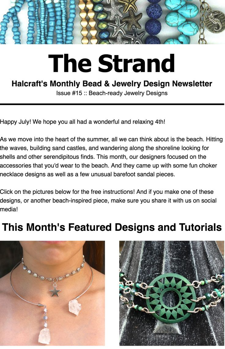 Best The Strand  Halcraft Beads Monthly Newsletter Images