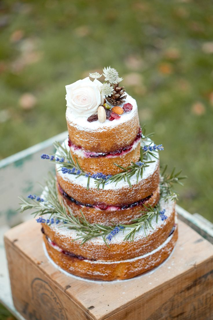 "Delicious wedding cake with a touch of Christmas from the French Made. Photo credit: Naomi Kenton.  For more Alternative Wedding inspiration, check out the No Ordinary Wedding article ""20 Quirky Alternatives to the Traditional Wedding""  http://www.noordinarywedding.com/inspiration/20-quirky-alternatives-traditional-wedding-part-2"