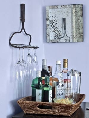 Great idea for an old rake. Turn it into a stemware holder. Thanks to Country Living Magazine for this great tip! for-the-home