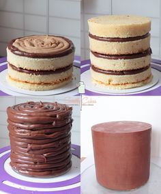 montage d'un layer cake by sweetly cakes