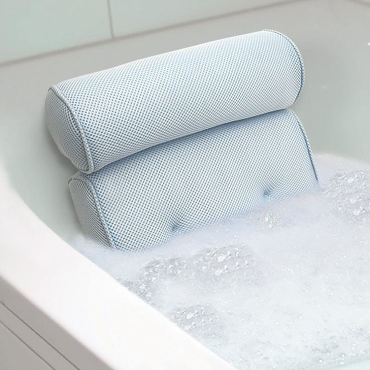 Memory Foam Bath Pillow. I\'ve been asking for this for Christmas for ...