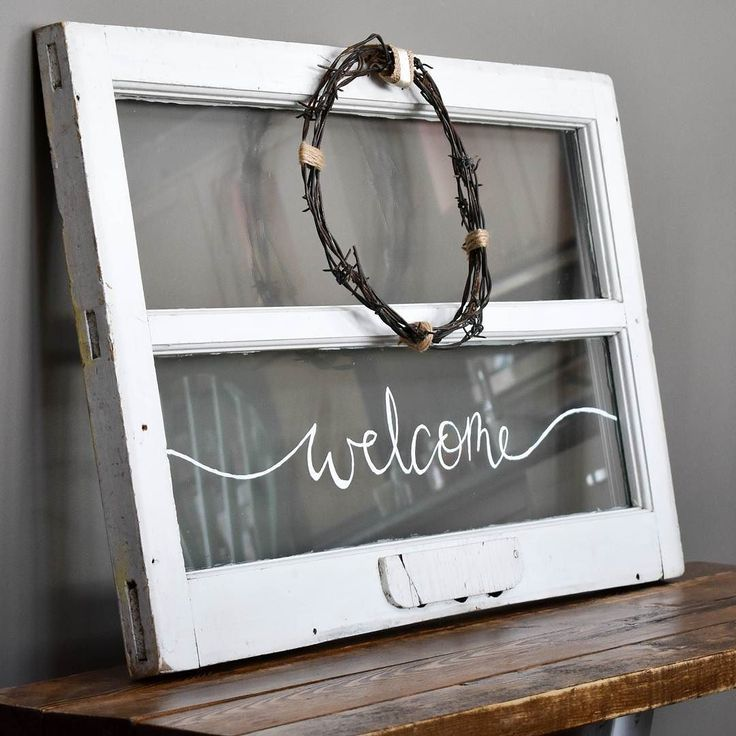 Drum roll please...I decided to go with cream ribbon over burlap!   Do you think I made the right choice?      #choices #decisionsarehard #welcome #vintagewindow #reclaimed #winter #wreath #Christmas #christmasmarket #white #calligraphy #barbedwire #restoration #burlap #twine #upcycle #salvaged #beauty #windowframe #homedecor #homesweethome #rustic #vintage #etsy #etsyyyc #art #Alberta #WheatlandMaker #Albertamaker #HistorymeetHandmade