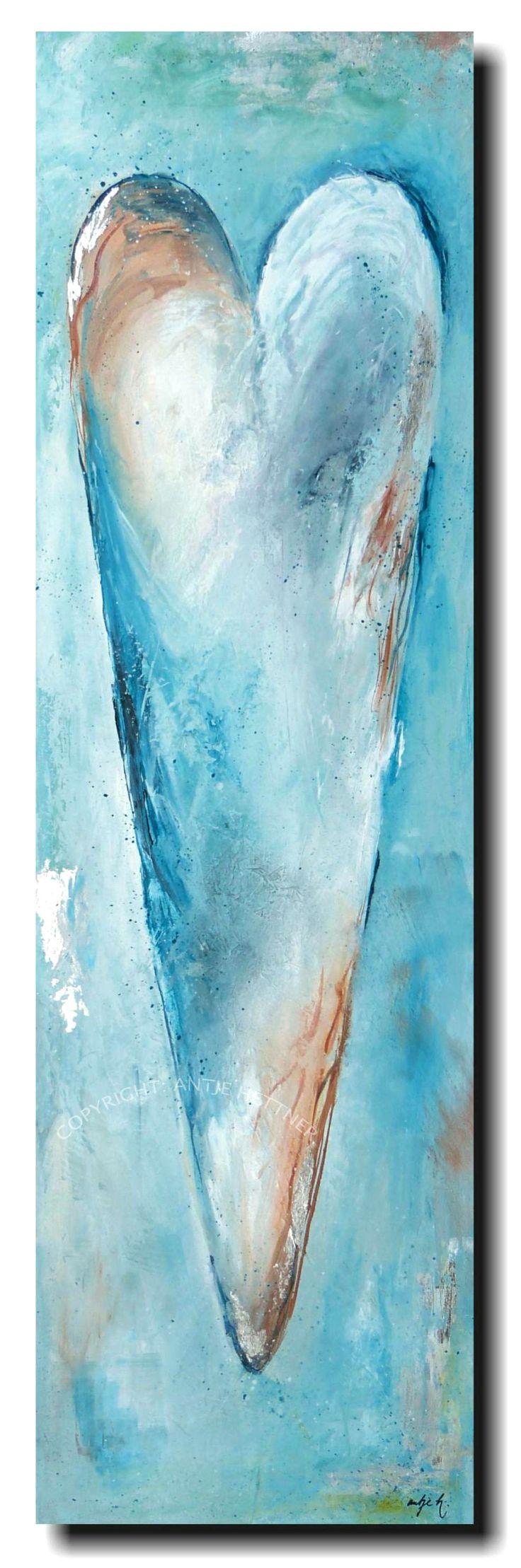 """aquamarin herz"" acrylic on canvas"